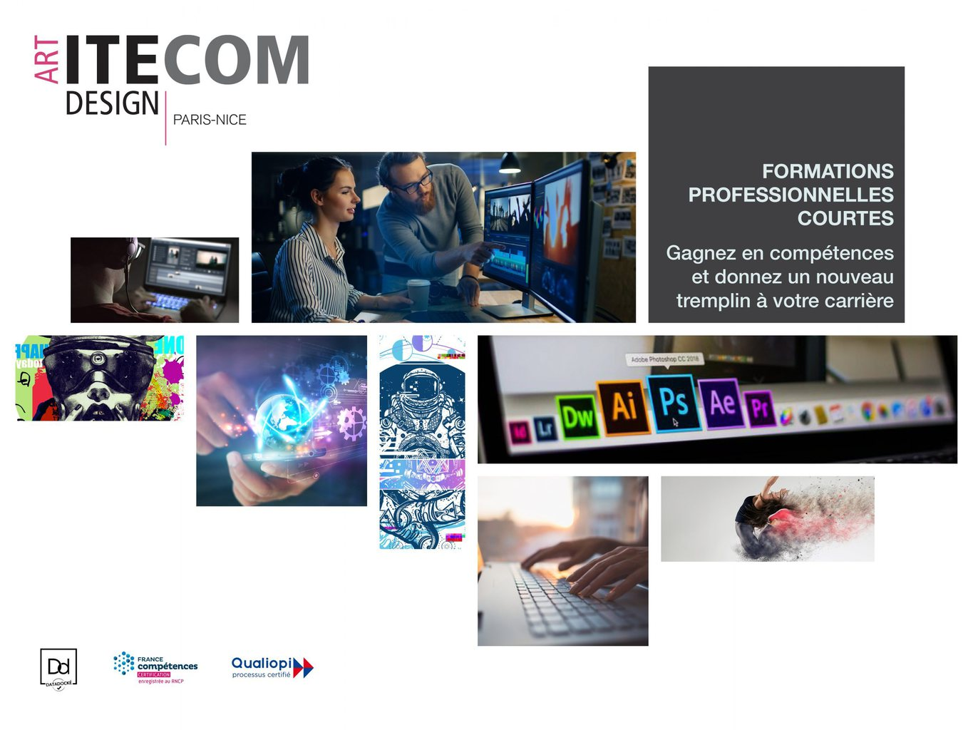 Formation professionnelles courtes - ITECOM ART DESIGN PARIS
